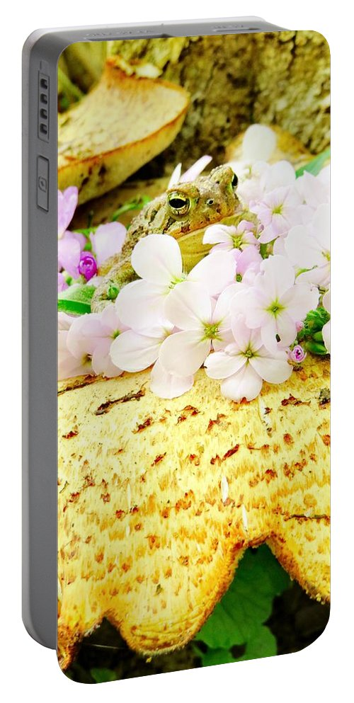 Flower Portable Battery Charger featuring the photograph Magical Prince by Art Dingo