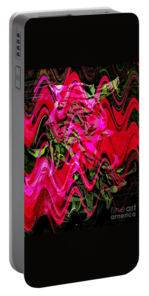 Digital Image Portable Battery Charger featuring the digital art Magnet by Yael VanGruber