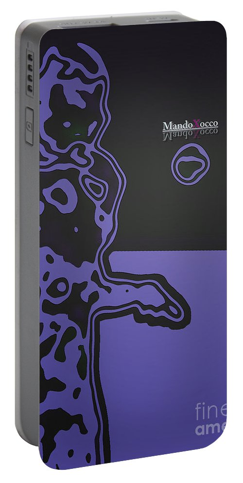 Design Portable Battery Charger featuring the mixed media Mailbox Art by Mando Xocco