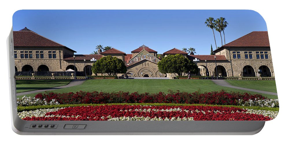 Stanford University Portable Battery Charger featuring the photograph Main Quad Stanford California by Jason O Watson