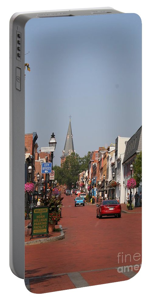 Road Portable Battery Charger featuring the photograph Main Street In Downtown Annapolis by Christiane Schulze Art And Photography