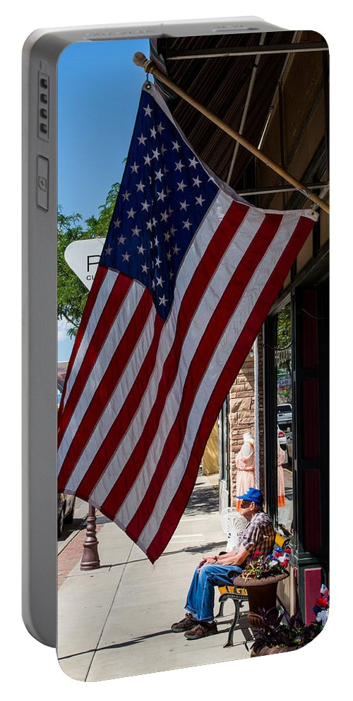 Americana Portable Battery Charger featuring the photograph Main Street Usa by John Daly