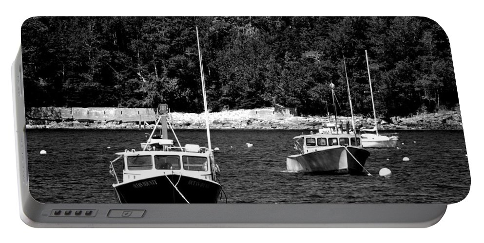 Lobster Boats Portable Battery Charger featuring the photograph Maine Lobster Boats by Tara Potts