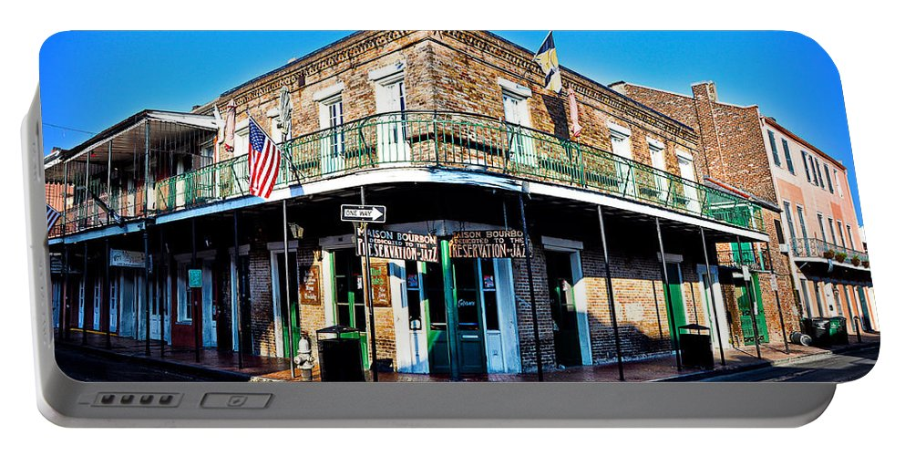 Maison Portable Battery Charger featuring the photograph Maison Bourbon - New Orleans by Bill Cannon