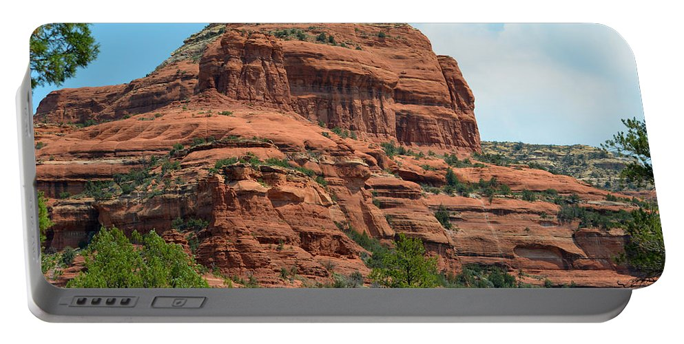 Sedona Red Rock Portable Battery Charger featuring the photograph Majestic Sedona by Deprise Brescia