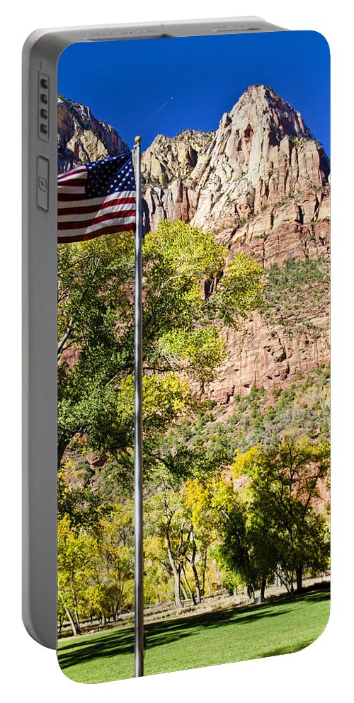 Zion National Park Utah Portable Battery Charger featuring the photograph Majestic Sight - Zion National Park by Jon Berghoff