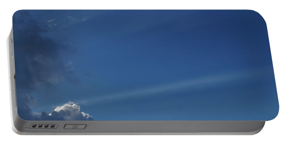 Majestic Portable Battery Charger featuring the photograph Majestic Sky - Sunbeam by Mick Anderson
