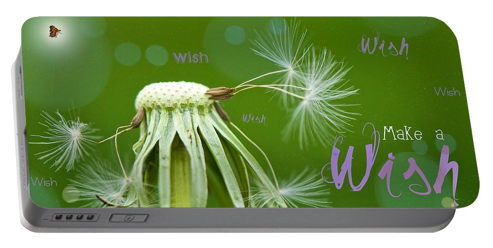 Birthday Card Portable Battery Charger featuring the photograph Make A Wish Card by Lisa Knechtel