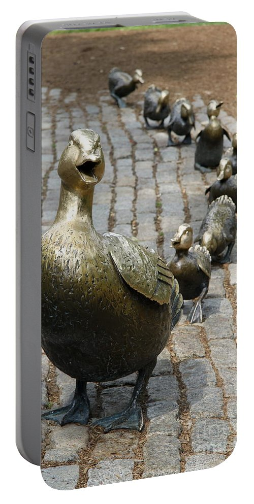 Ducklings Portable Battery Charger featuring the photograph Make Way For Ducklings by Christiane Schulze Art And Photography