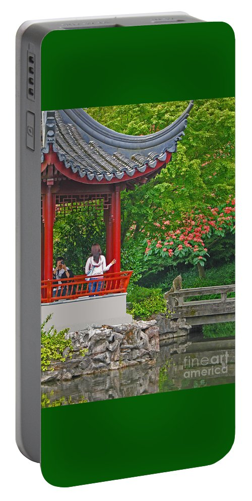 Garden Portable Battery Charger featuring the photograph Making A Memory by Ann Horn