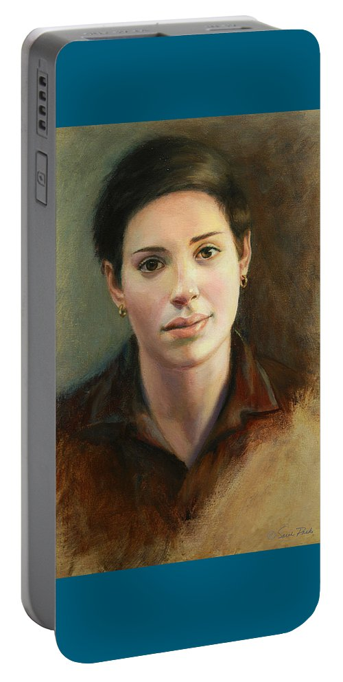 Figurative Portable Battery Charger featuring the painting Malena by Sarah Parks