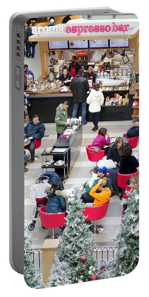 Shopping Portable Battery Charger featuring the photograph Mall Food Court by Valentino Visentini