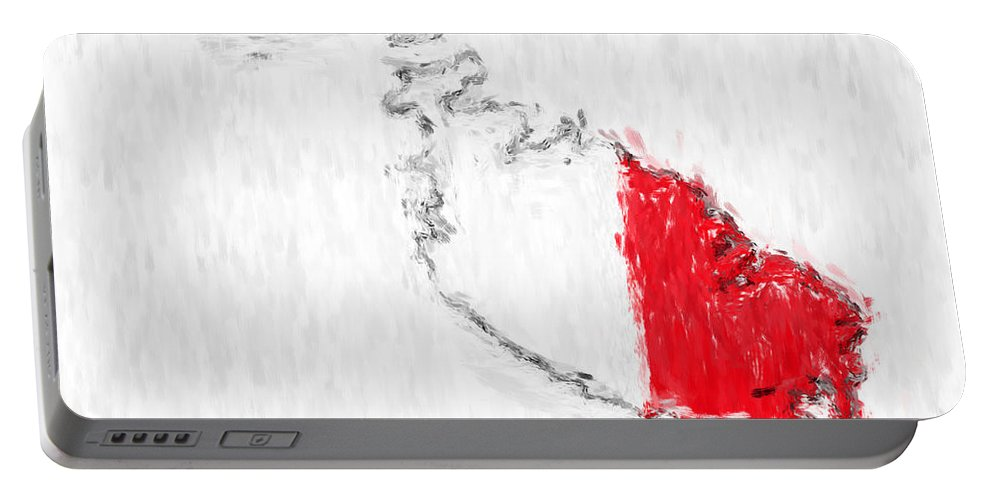 Malta Portable Battery Charger featuring the photograph Malta Painted Flag Map by Antony McAulay