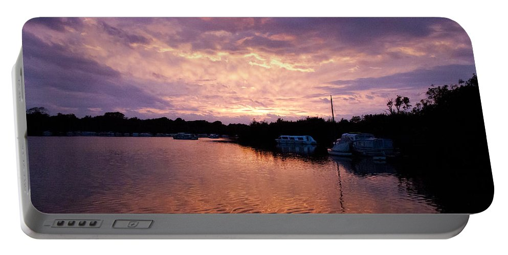 Norfolk Broads Portable Battery Charger featuring the photograph Malthouse Broad by Gavin Bates