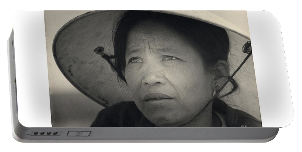 Mama San Portable Battery Charger featuring the photograph Mama San Pleiku Central Highlands Vietnam 1968 by California Views Mr Pat Hathaway Archives