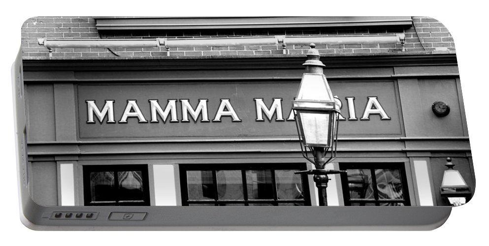 Mamma Mia Portable Battery Charger featuring the photograph Mamma Mia by Charlie and Norma Brock