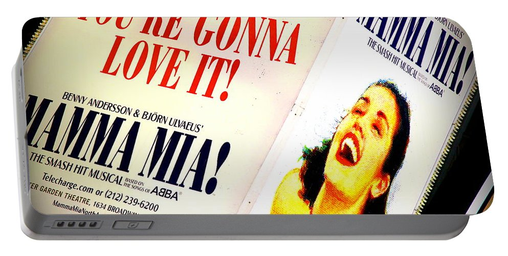 Broadway Portable Battery Charger featuring the photograph Mamma Mia by Valentino Visentini