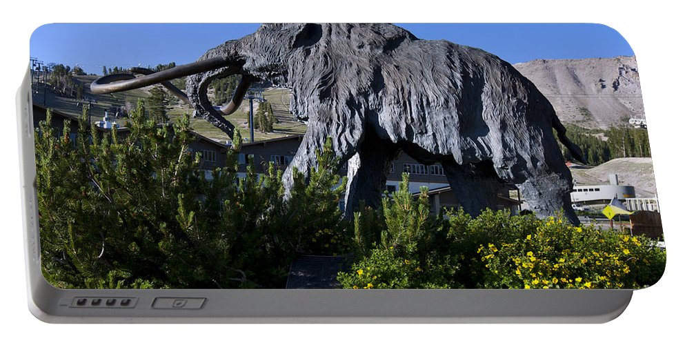 Wooly Mammoth Portable Battery Charger featuring the photograph Mammoth Mountain Ski Area by Jason O Watson