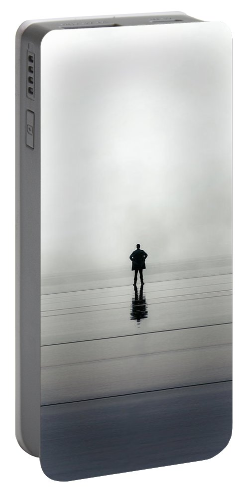 Young Portable Battery Charger featuring the photograph Man Alone by Joana Kruse