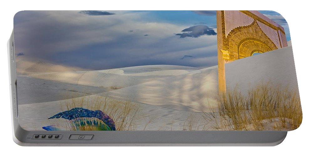 White Sands Portable Battery Charger featuring the digital art Man Of War Approaching Golden Gate by Georgianne Giese