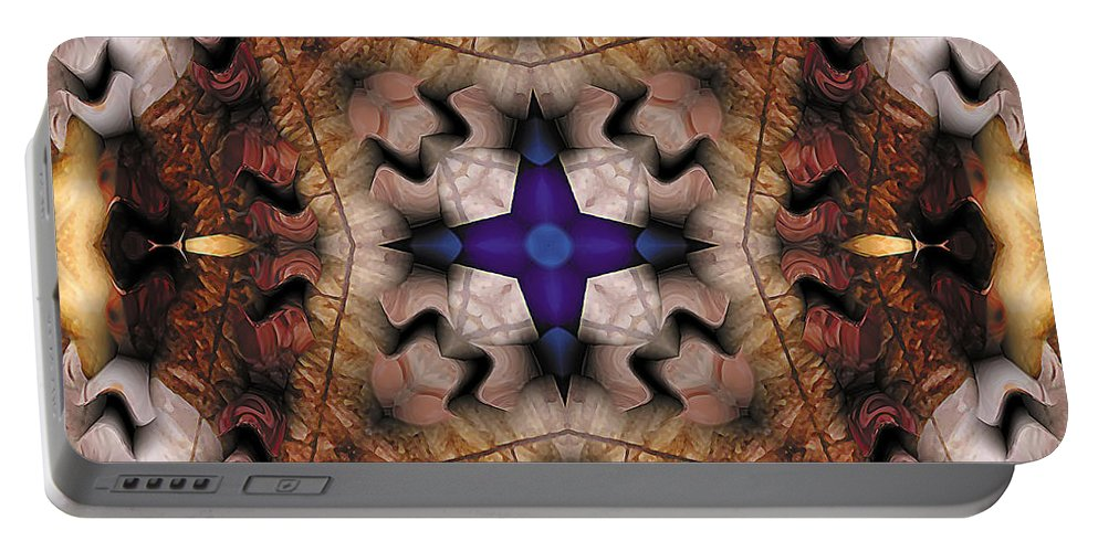Tibetan Art Portable Battery Charger featuring the digital art Mandala 17 by Terry Reynoldson
