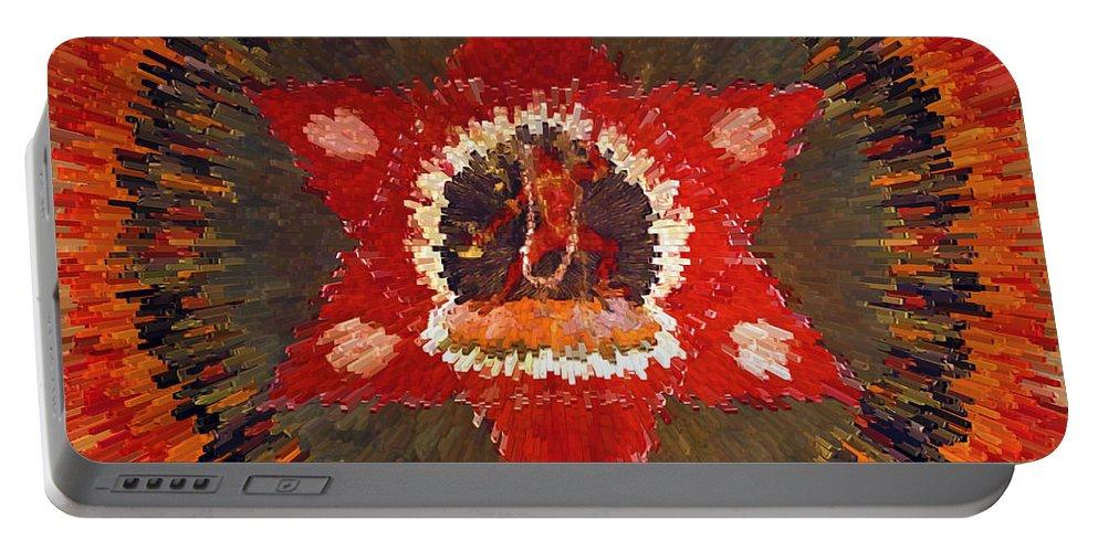 Mandala Naro Khechari Portable Battery Charger featuring the painting Mandala Naro Khechari by Jeelan Clark