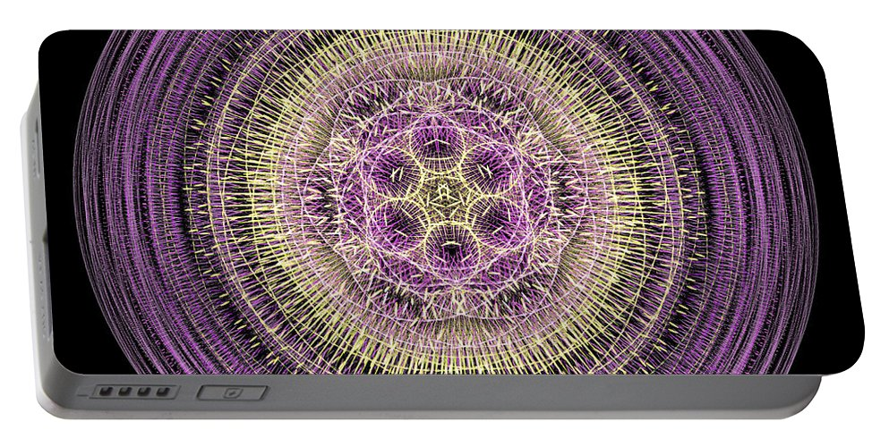 Wisdom Portable Battery Charger featuring the digital art Mandala Of Wisdom by Martin Capek
