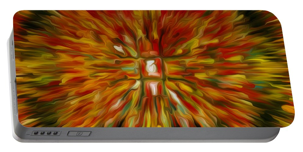 Mandala Vairocana Portable Battery Charger featuring the painting Mandala Vairocana by Jeelan Clark