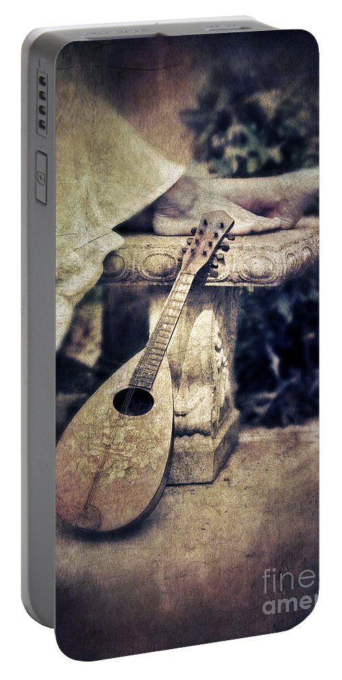 Woman Portable Battery Charger featuring the photograph Mandolin By Lady's Feet by Jill Battaglia