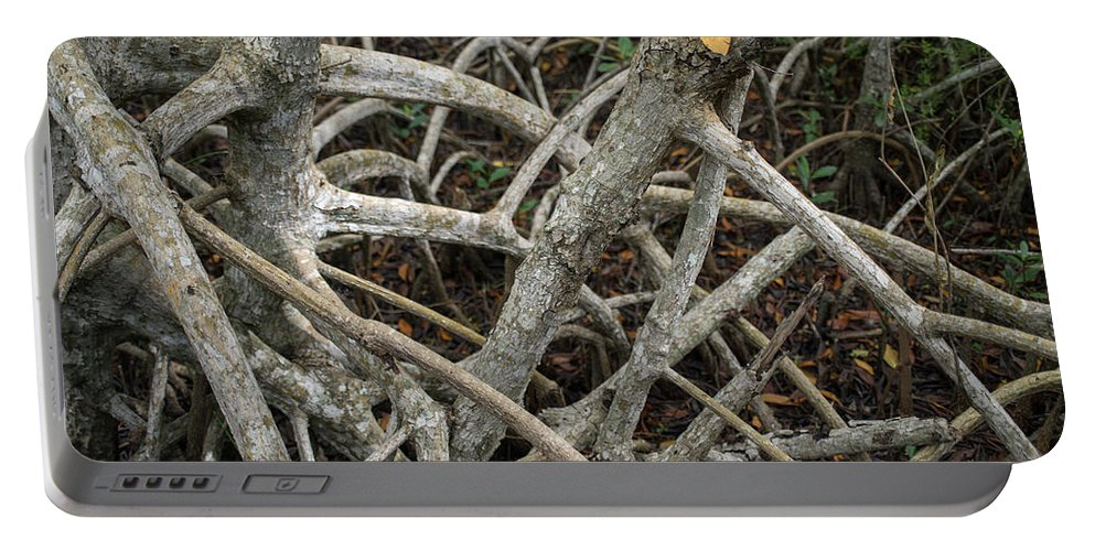 Branches Portable Battery Charger featuring the photograph Mangrove Roots 1 by Tracy Knauer