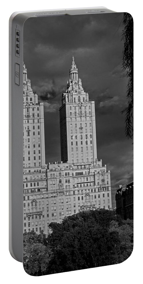 Architecture Portable Battery Charger featuring the photograph Manhattan Architecture by Kathleen Odenthal