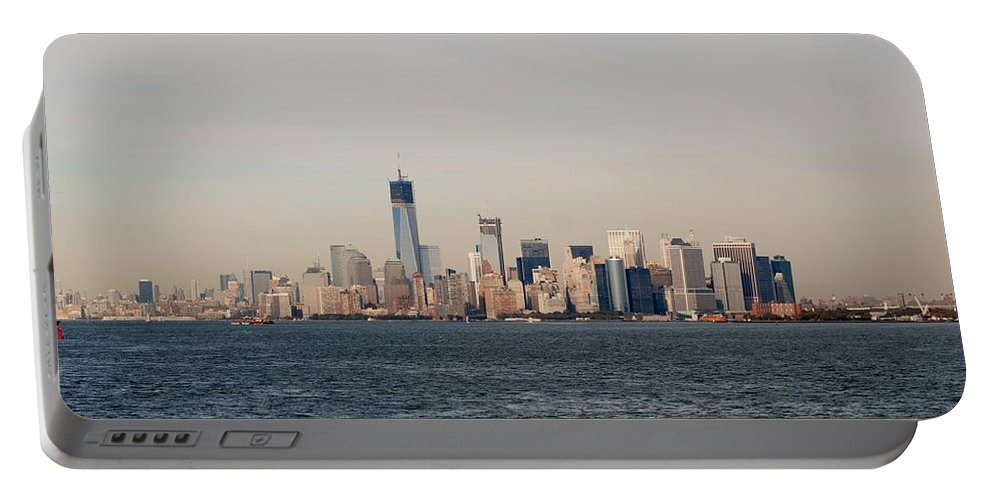 Harbor Portable Battery Charger featuring the photograph Manhattan by Rob Hans