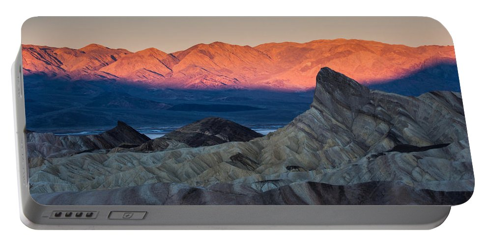 Death Valley Portable Battery Charger featuring the photograph Manly Dawn by Dayne Reast