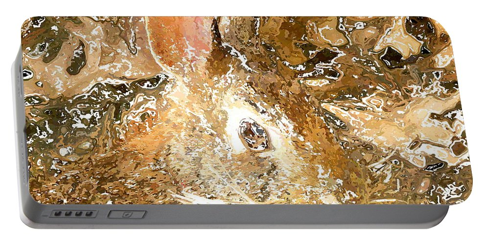 Frank Portable Battery Charger featuring the digital art March 025 0 Rabbit Eyes Looking by Frank Crescenti