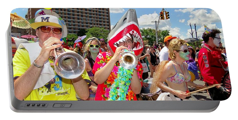 Coney Island Portable Battery Charger featuring the photograph Marching Band by Ed Weidman