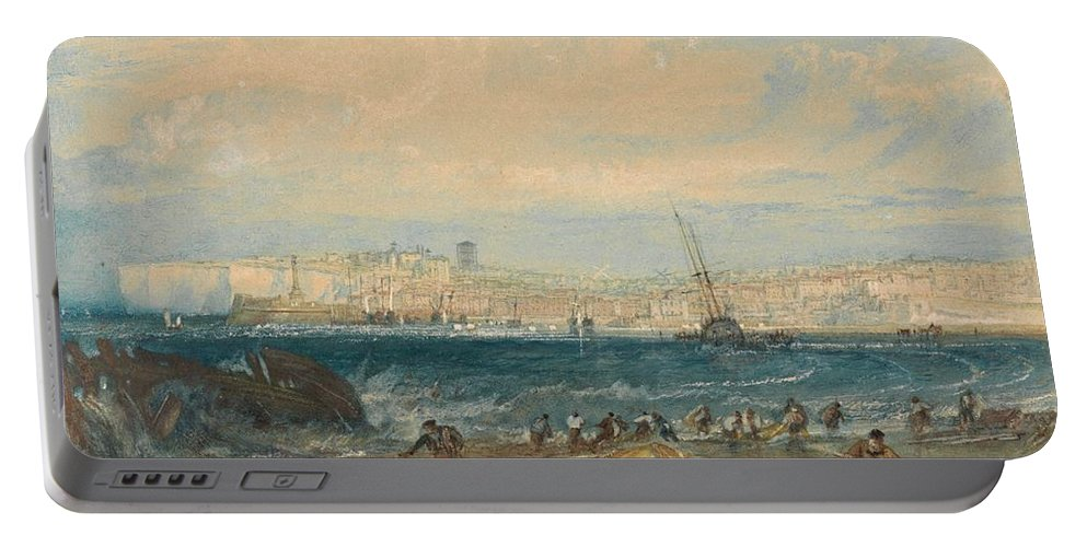 1822 Portable Battery Charger featuring the painting Margate by JMW Turner