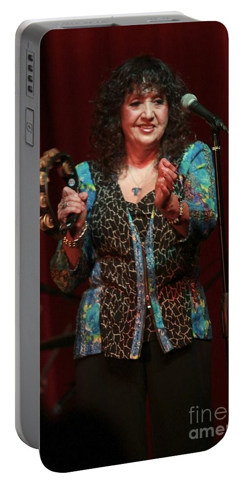 Singer Portable Battery Charger featuring the photograph Maria Muldaur by Concert Photos