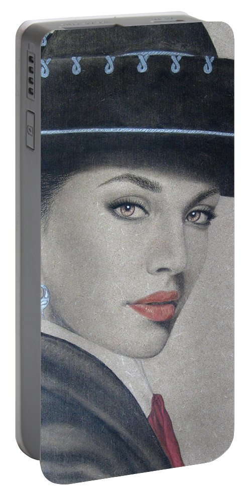Mariachi Portable Battery Charger featuring the painting Mariachi by Lynet McDonald