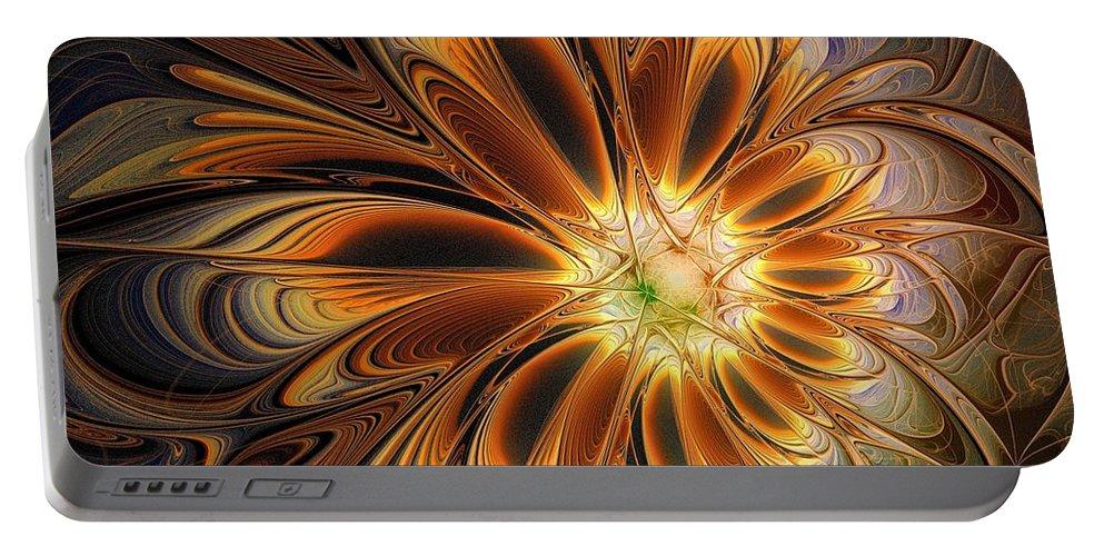 Digital Art Portable Battery Charger featuring the digital art Marigold by Amanda Moore