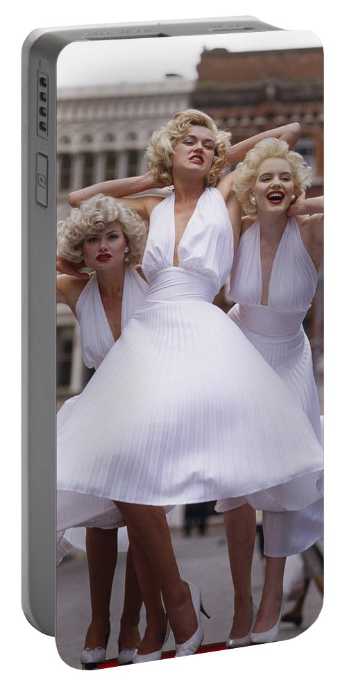 Marilyn Monroe Portable Battery Charger featuring the photograph Marilyn Monroe by Shaun Higson