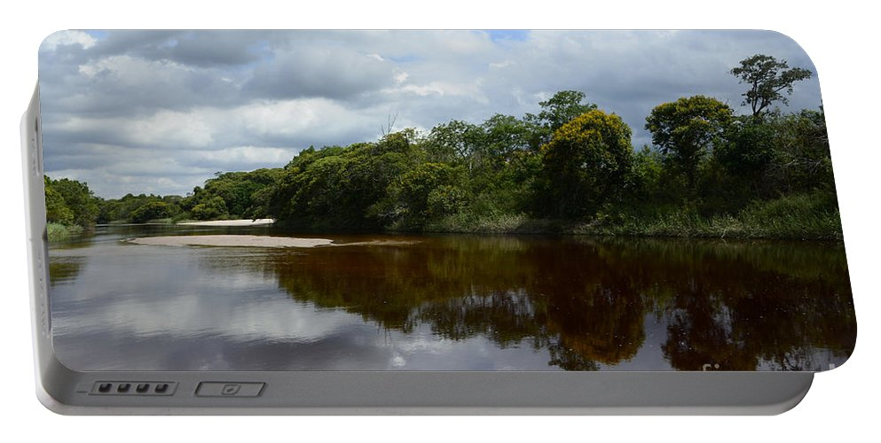 Beauty Beauty Of Reflections Portable Battery Charger featuring the photograph Marimbus River Brazil Reflections 4 by Bob Christopher