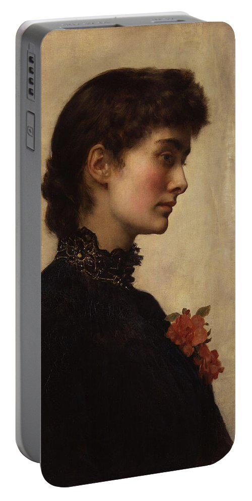 John Portable Battery Charger featuring the painting Marion Collier by Philip Ralley