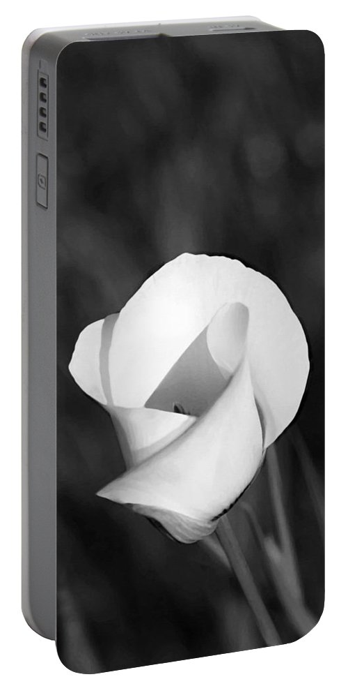 Mariposa Lily Portable Battery Charger featuring the painting Mariposa Lily 2 by Ellen Henneke