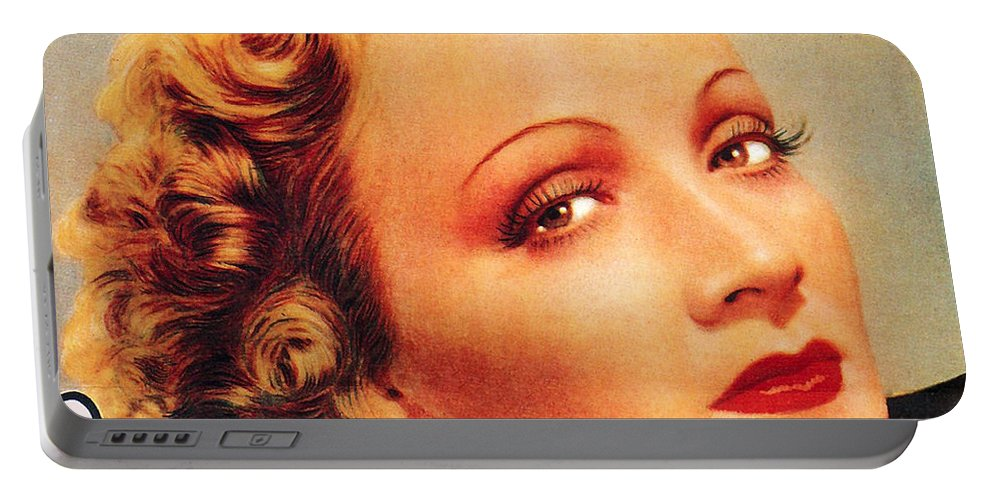 Marlene Dietrich Portable Battery Charger featuring the digital art Marlene Dietrich by Studio Artist
