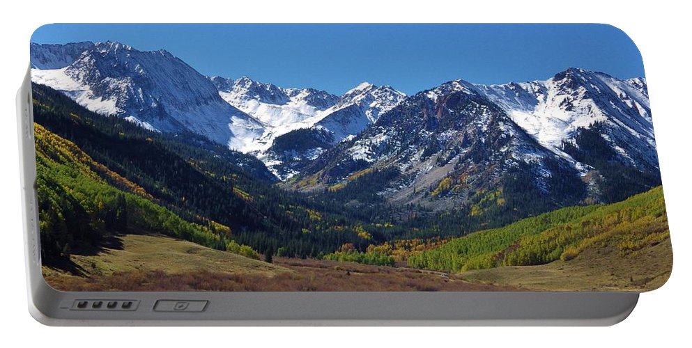 Maroon Bells Portable Battery Charger featuring the photograph Maroon Bells by Tonya Hance