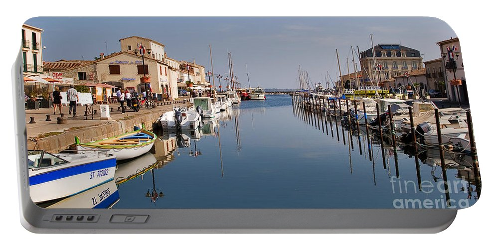 Travel Portable Battery Charger featuring the photograph Marseillan Harbour by Louise Heusinkveld