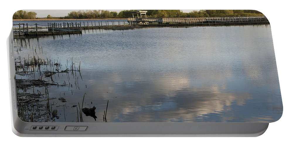 Horicon Marsh Portable Battery Charger featuring the photograph Marsh Boardwalk by Jayne Gohr