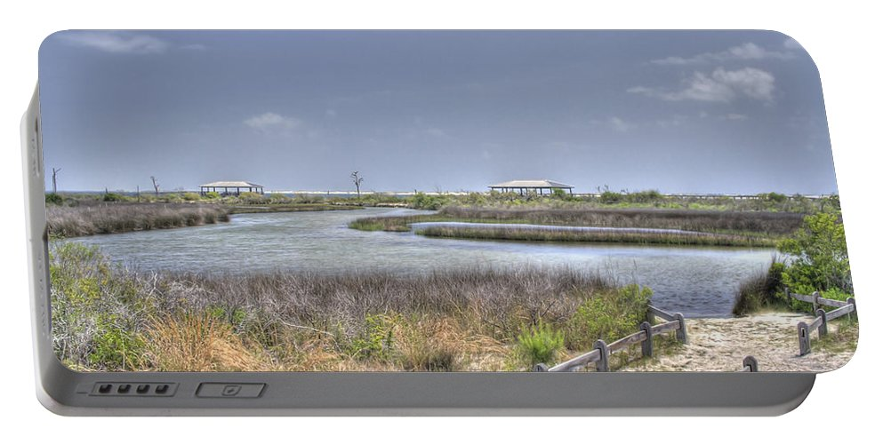 Pensacola Portable Battery Charger featuring the photograph Marsh by David Troxel