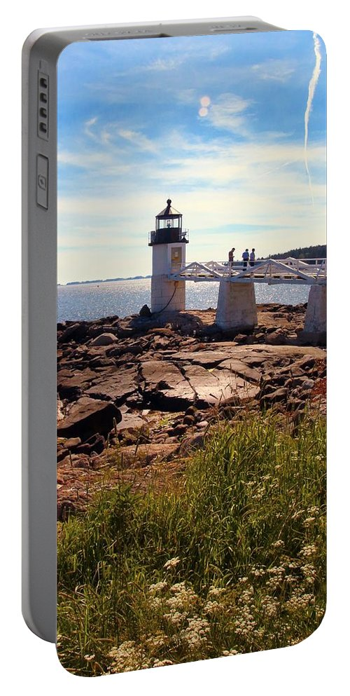 Marshall Point Light Portable Battery Charger featuring the photograph Marshall Point Light by Robert McCulloch