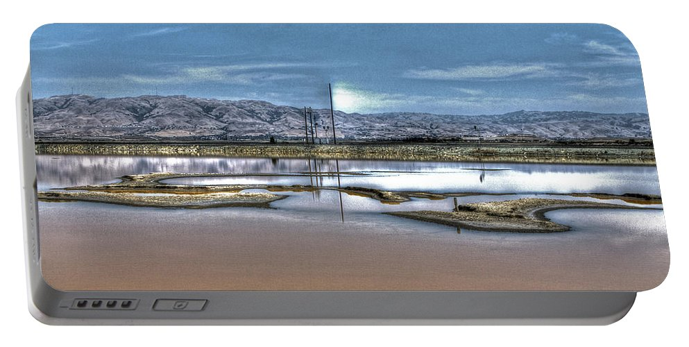 Alviso Portable Battery Charger featuring the photograph Marshlands by SC Heffner